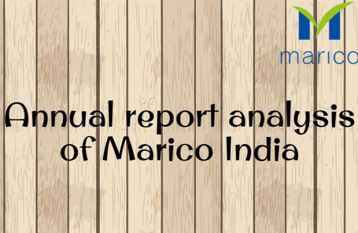 Annual Report Analysis of Marico India