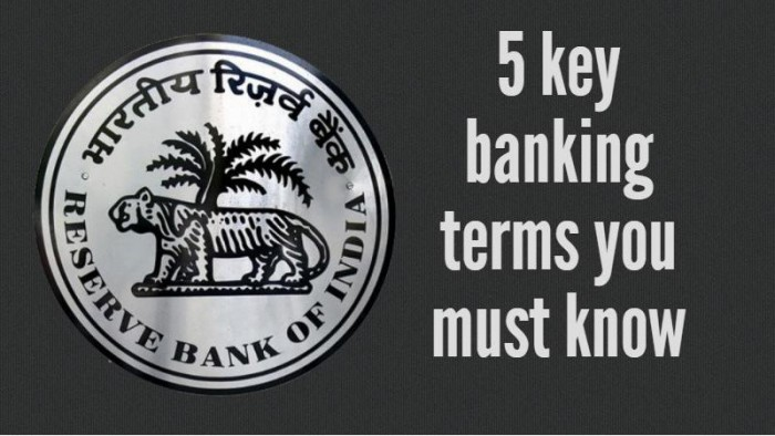 important banking terminology