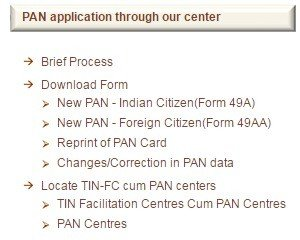 PAN Card - Follow The Simple Procedure To Apply Online Application Form Download For Pan Card on pan card correction application form, pan card apply online, pan card form 49a,