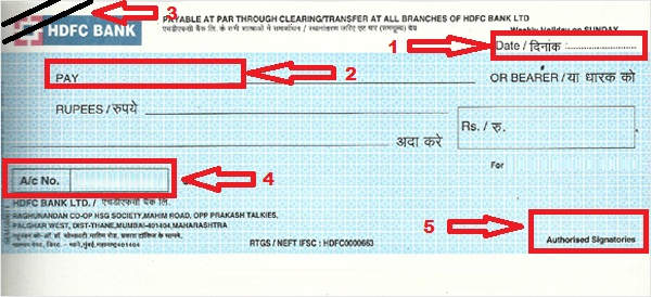 steps to write a cheque