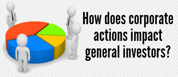 How do Corporate Actions affect the Share Market