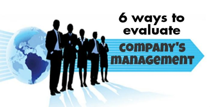 how to evaluate company's management