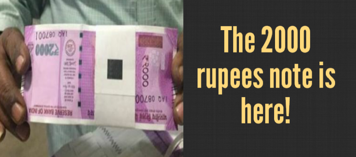 2000 rupees note is here
