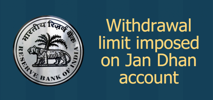 RBI limits withdrawal from Jan Dhan account