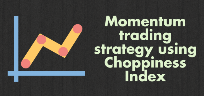 Momentum based strategy using Choppiness Index