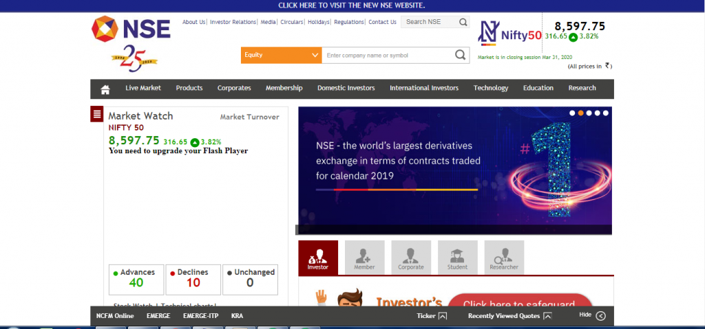 nse website