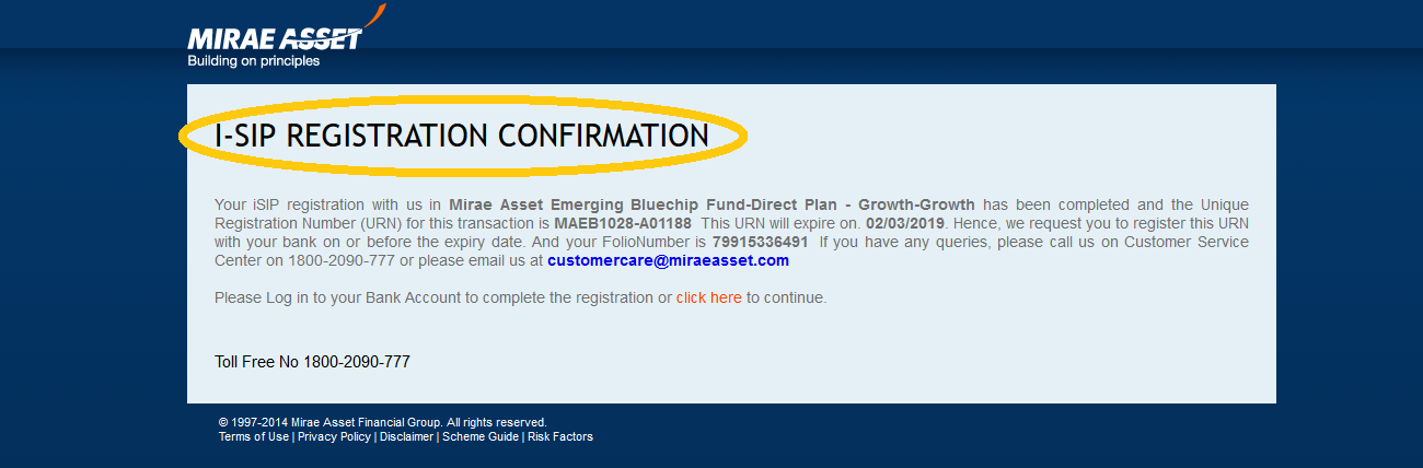 13.Registration confirmation